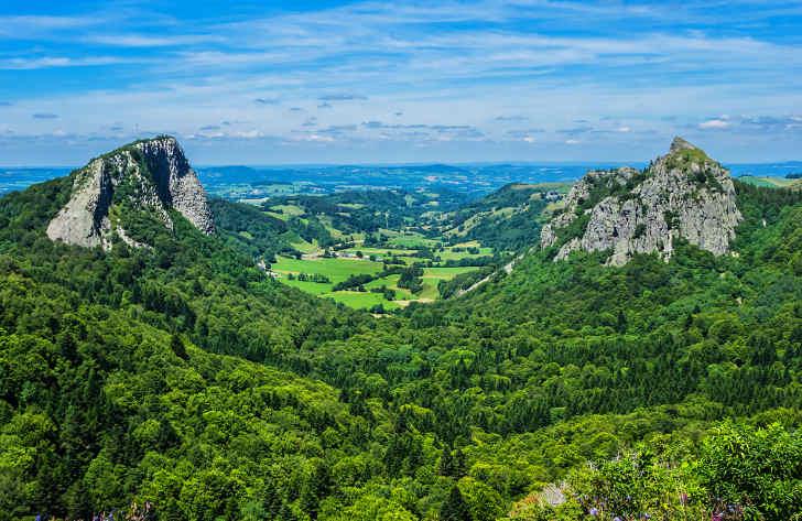Campsites in Auvergne, France