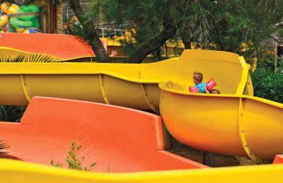 Aloha Village Waterslide Fun