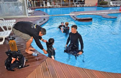 Camping les Fontaines Pool Scuba Diving