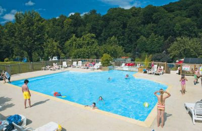 The large family swimming pool with sun terrace