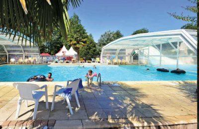 Domaine de la Breche Covered Swimming Pool
