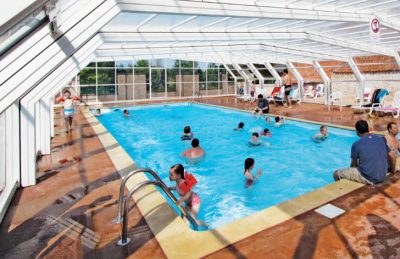 Covered swimming pool area