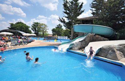 Waterslides In Swimming Pool