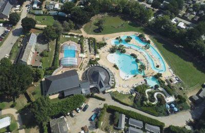 La Grande Metairie Campsite Ariel Overview