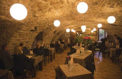 Les Ranchisses Restaurant Evening Dining Area
