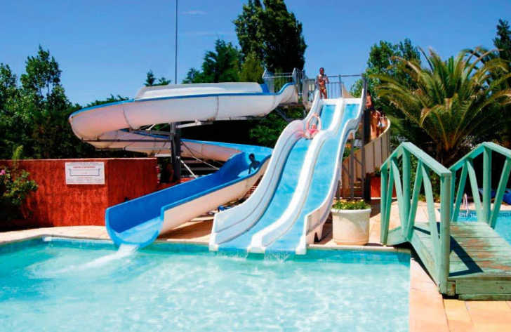 Camping Le Cap Agathois Pool Slides