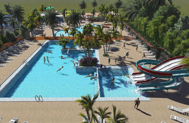 Camping L'Oasis Pool Overview