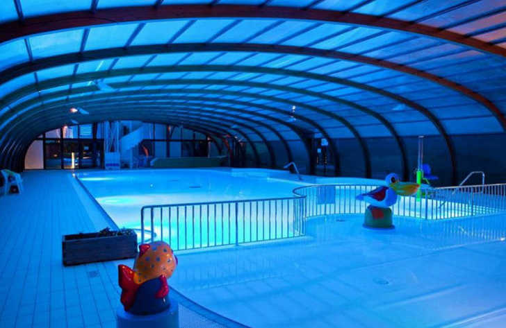 Domaine de Litteau Covered Pool Nightime